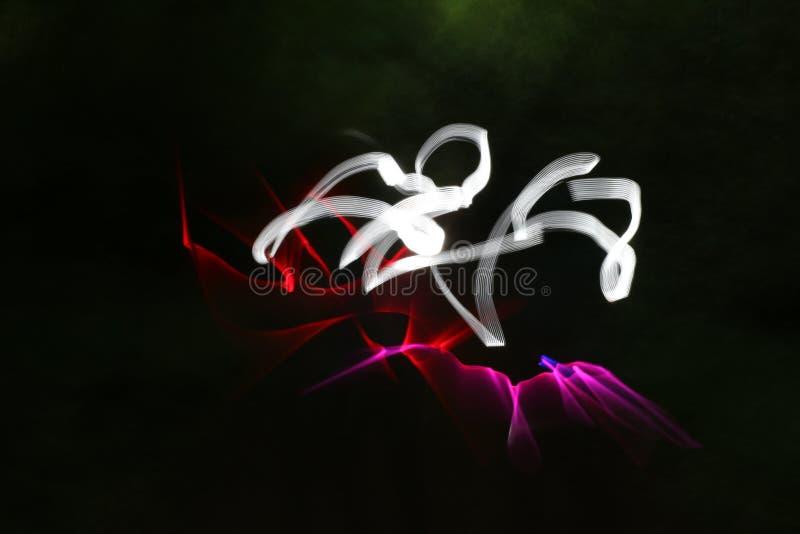 La forte luce bianca della forza sopra emissione rosa-rosso si accende immagine stock libera da diritti