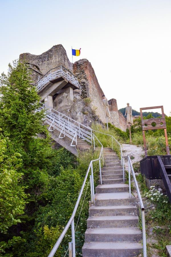 La forteresse de Poenari photographie stock