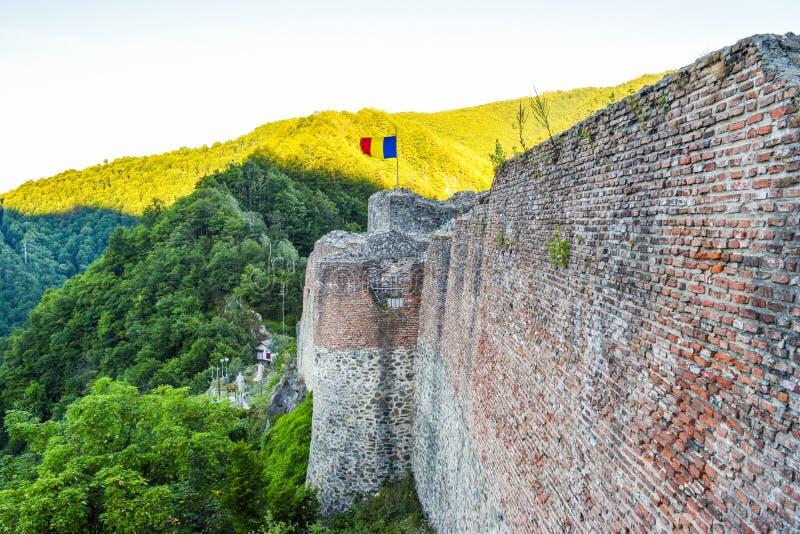 La forteresse de Poenari image libre de droits