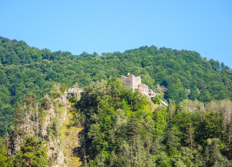 La forteresse de Poenari images stock