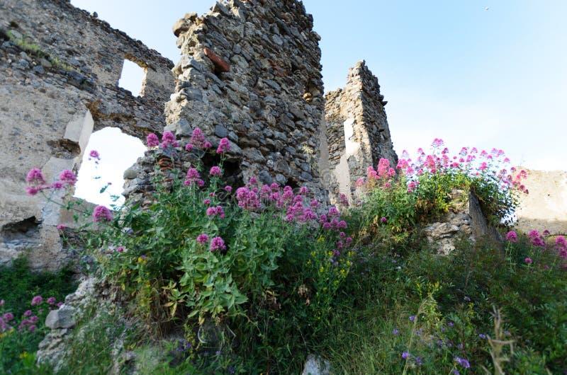 La forteresse du 13ème siècle dans la ville de Santa Maria del Cedro, Italie images stock