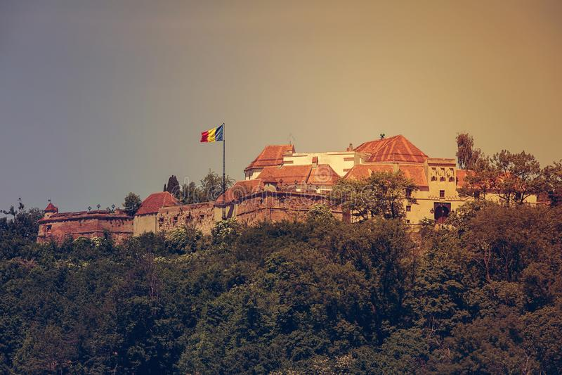 La forteresse médiévale de Brasov photographie stock libre de droits
