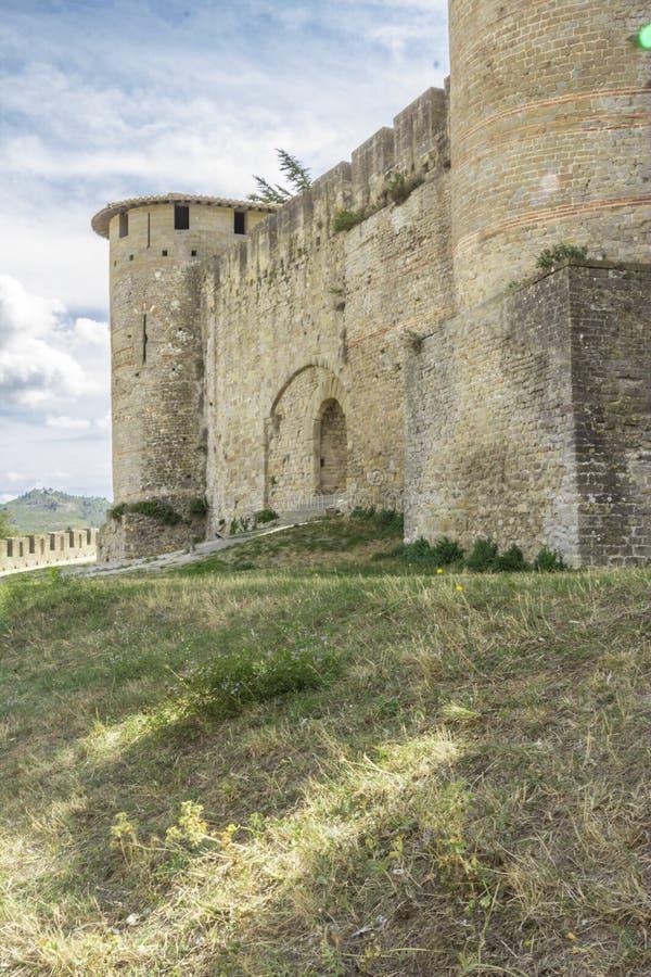 La forteresse médiévale de Carcassonne images stock