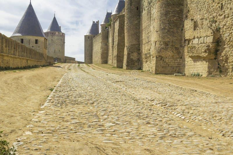 La forteresse médiévale de Carcassonne photos stock