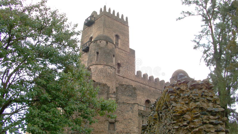 La forteresse-ville de Fasil Ghebbi images stock