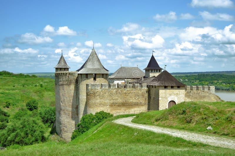 La fortezza di Khotyn immagini stock libere da diritti