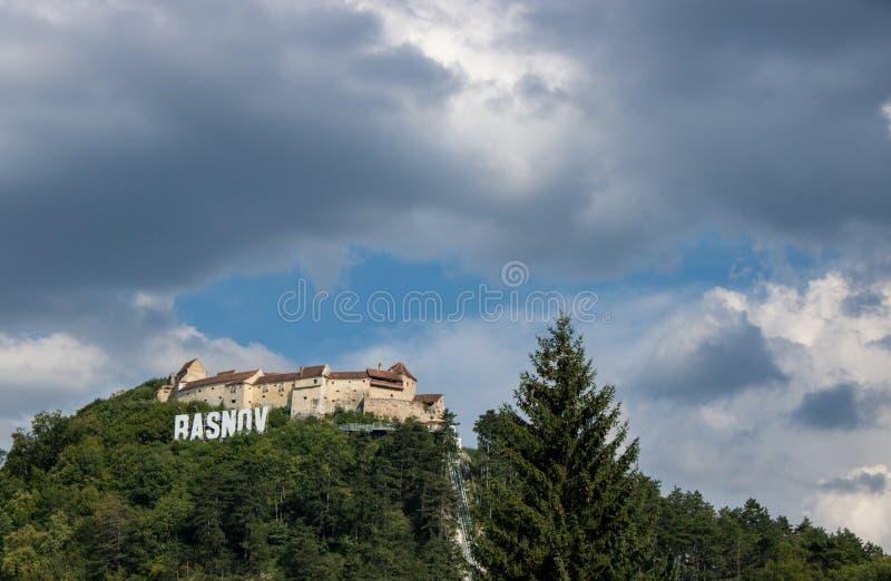 La fortezza di Rasnov, Romania fotografie stock libere da diritti