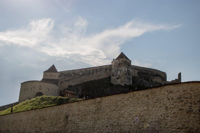 La fortezza di Rasnov, Romania immagine stock libera da diritti