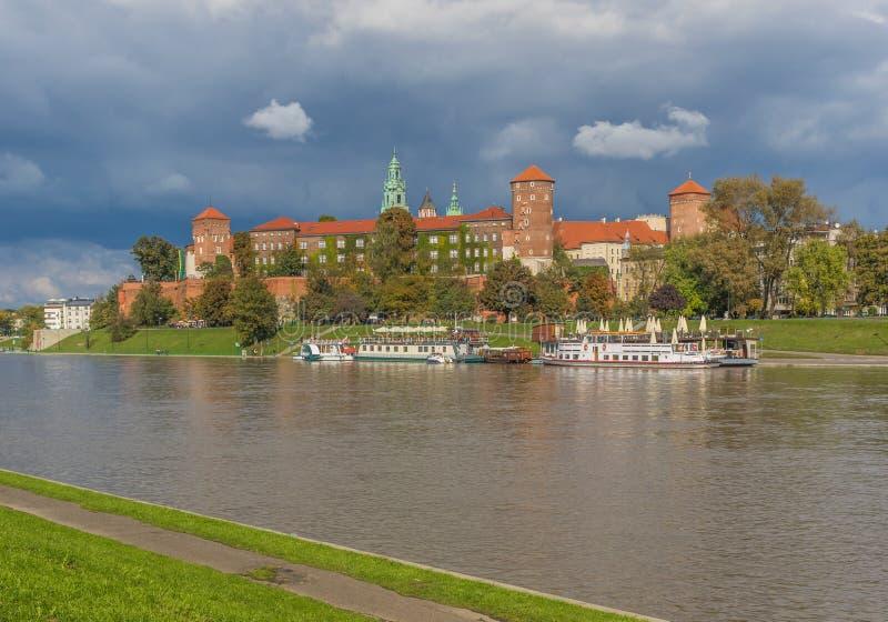 La fortezza di Wawel a Cracovia, Polonia fotografia stock libera da diritti