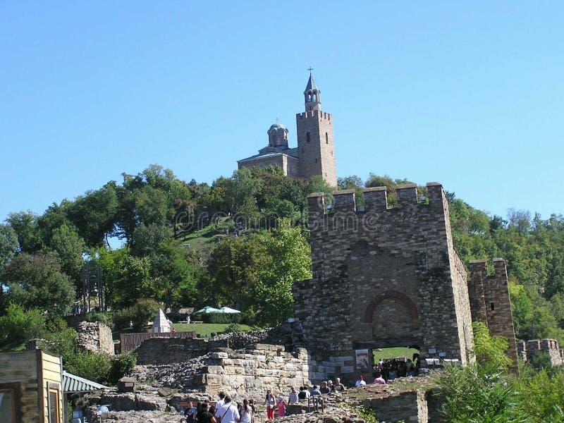 La fortezza incredibilmente bella di Tsarevets nella città di Veliko Tarnovo immagine stock libera da diritti