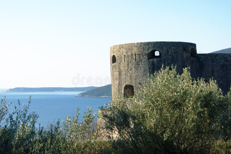 La fortezza Kanli Kula in Castelnuovo immagini stock libere da diritti