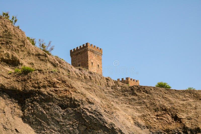 La fortezza sulla montagna nel Mar Nero fotografia stock libera da diritti