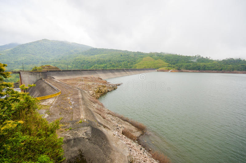 La fortuna Dam in Panama by an artificial lake.  royalty free stock photos