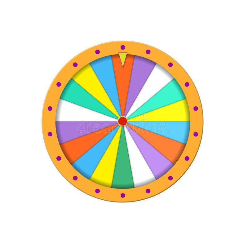La fortuna rueda adentro estilo plano stock de ilustración