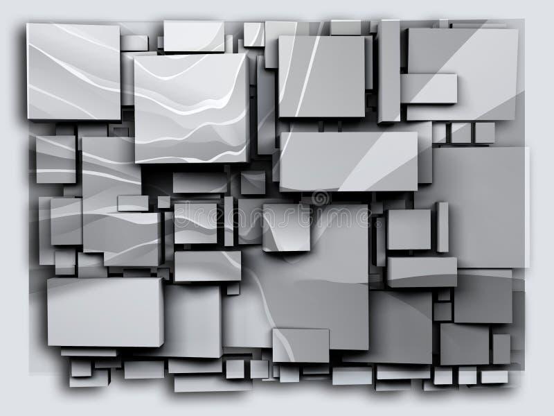 La foto 3D cuba l'arenaria di effetto rappresentazione 3d royalty illustrazione gratis
