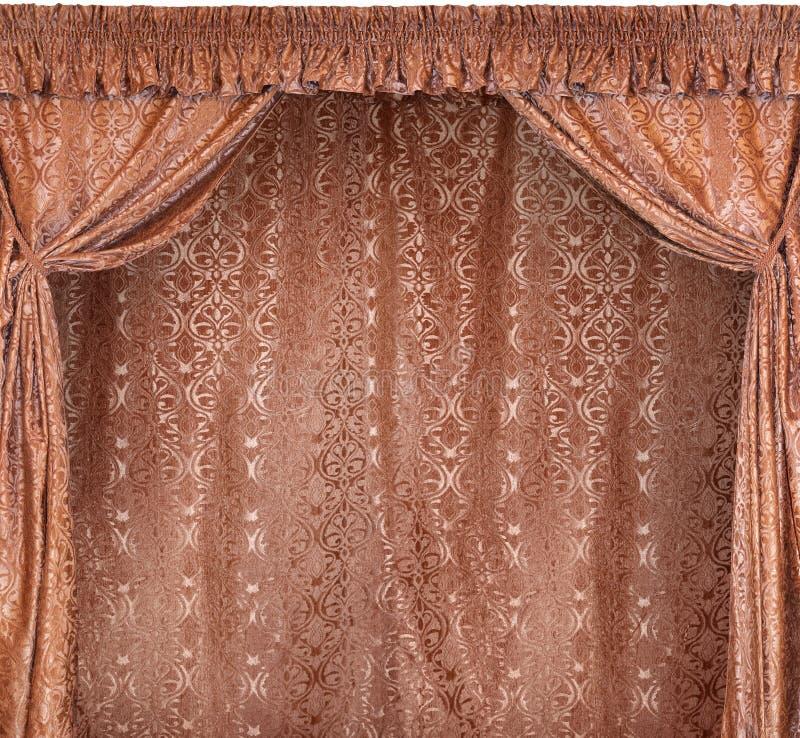 La foto de cortinas elegantes de un terciopelo del oro fotos de archivo libres de regalías