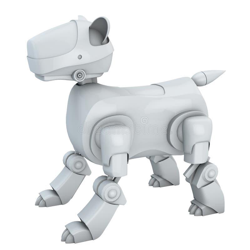 La foto di riserva - foto di riserva - cane del robot ha isolato il bianco fotografia stock libera da diritti