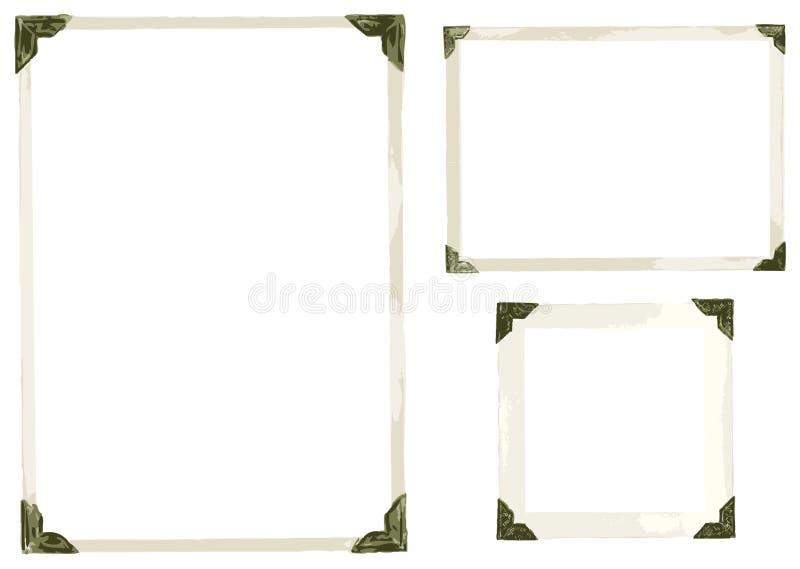La foto vieja arrincona vector stock de ilustración