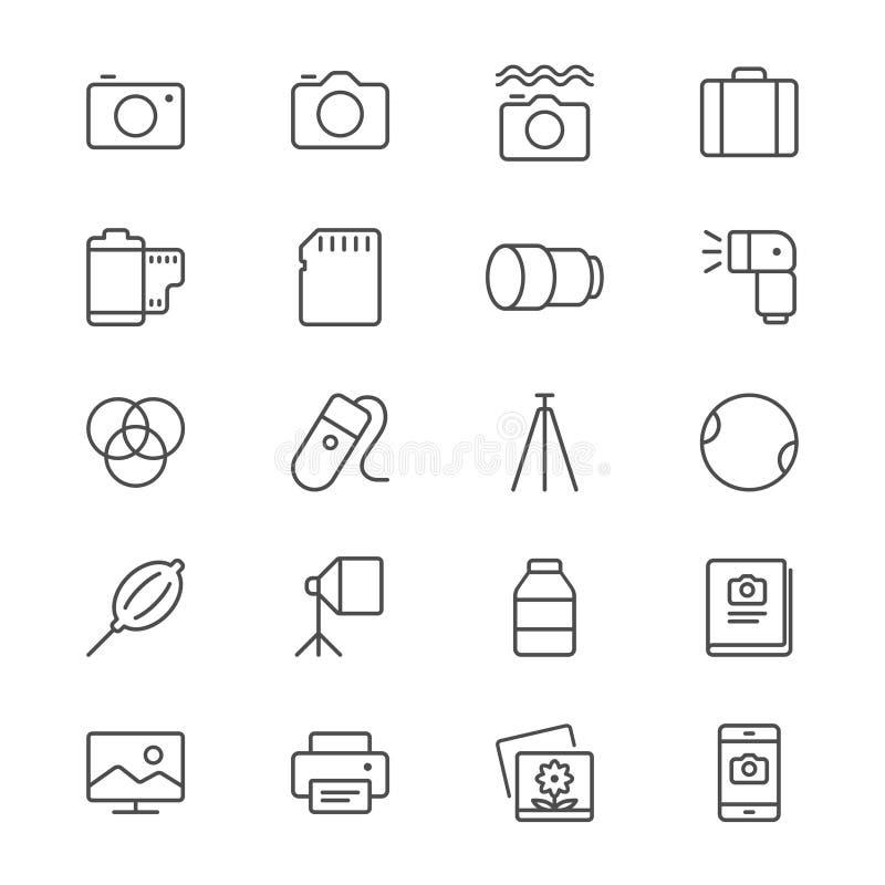 La fotografía enrarece iconos libre illustration