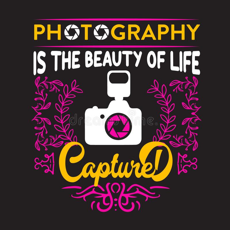 La fotografia è bellezza di vita catturata illustrazione di stock