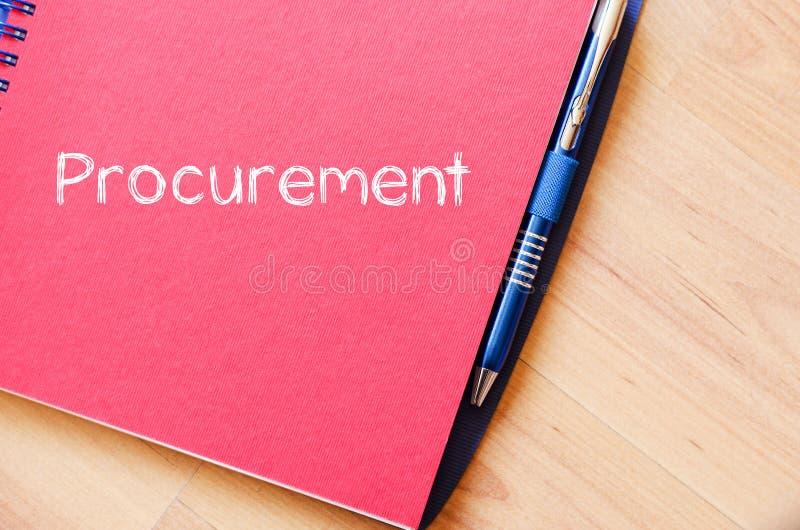 La fourniture écrivent sur le carnet photos libres de droits