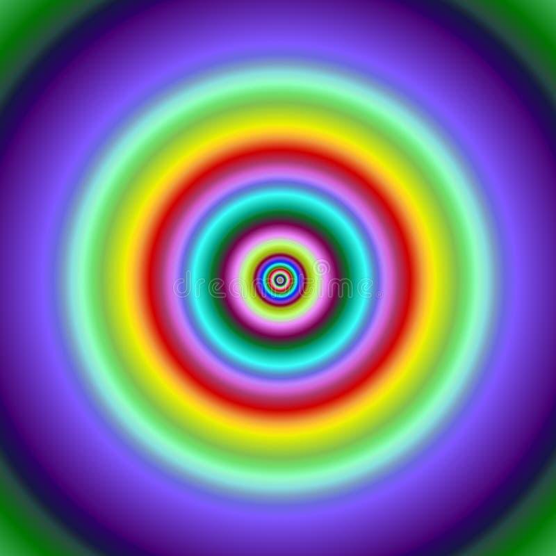 La fractale colorée entoure l'image de cible. illustration libre de droits