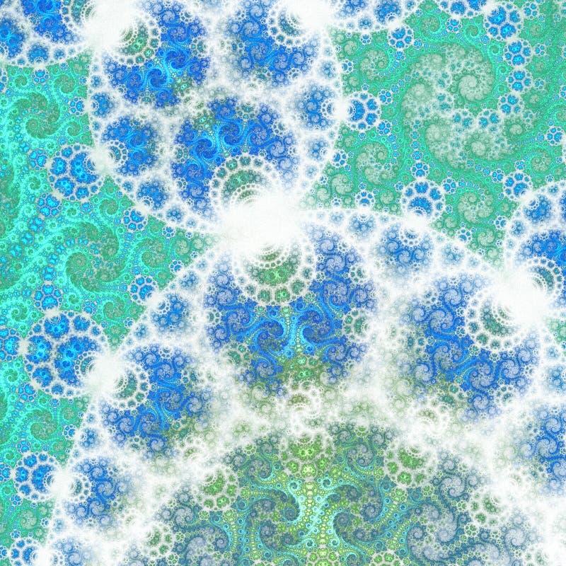 La fractale tourbillonne, l'eau abstraite, illustration numérique illustration libre de droits