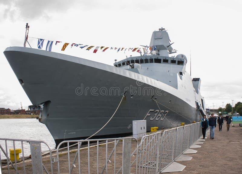 La fragata HDMS Niels Juel (F363) imagen de archivo