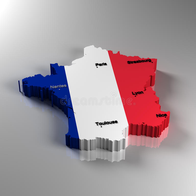 La France illustration stock