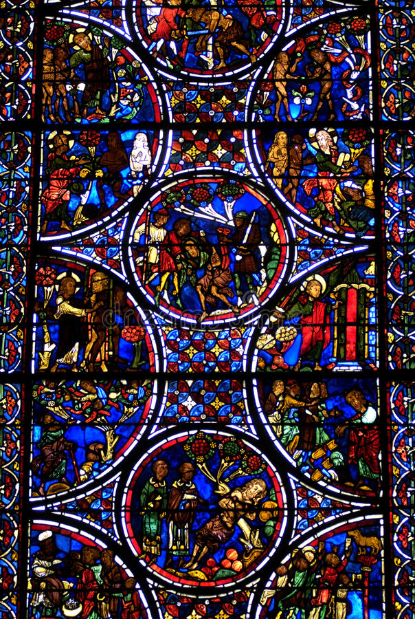 La France, cathédrale de Bourges photos stock