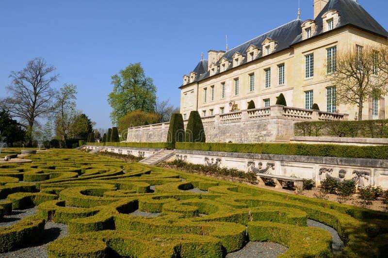 La France, château de sur Oise d'Auvers photo libre de droits