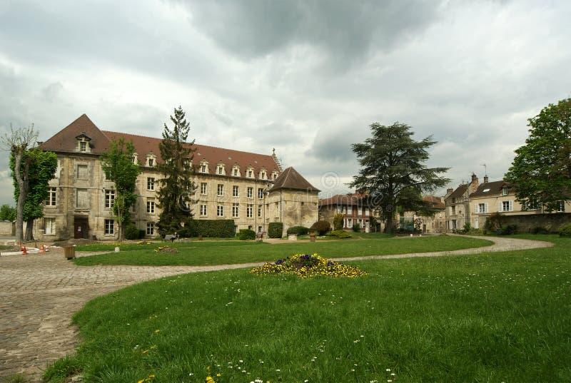 La France, senlis, abbaye de Vincent de saint photo libre de droits