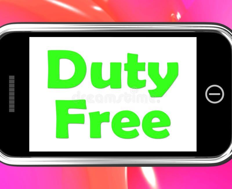 La franchigia sul telefono mostra gli acquisti esenti da imposte royalty illustrazione gratis