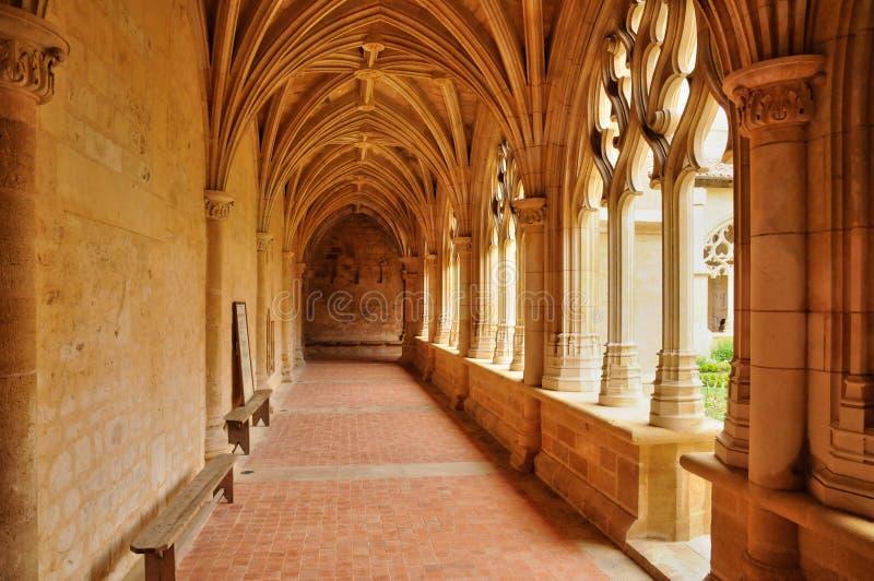La Francia, abbazia di Cadouin in Perigord fotografia stock libera da diritti