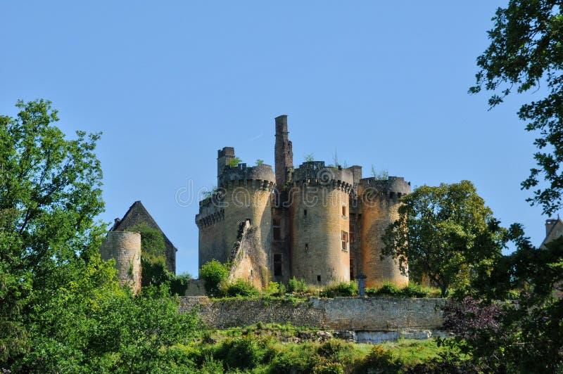 La Francia, castello pittoresco del san Vincent le Paluel fotografia stock