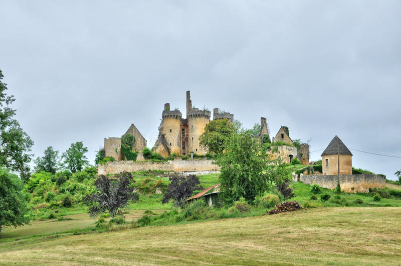 La Francia, castello pittoresco del san Vincent le Paluel fotografia stock libera da diritti