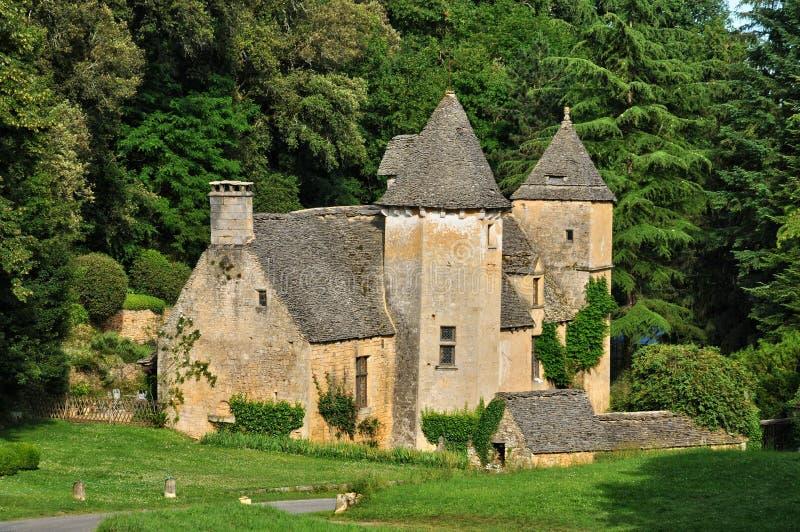 La Francia, castello pittoresco di Cipières in san Crepin fotografia stock libera da diritti