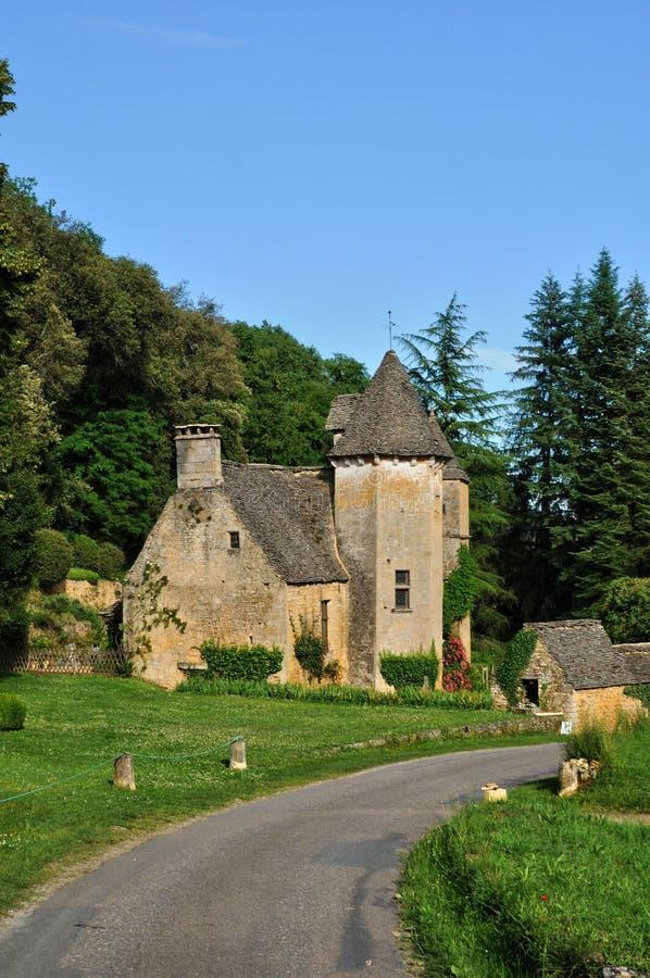 La Francia, castello pittoresco di Cipières in san Crepin immagini stock libere da diritti