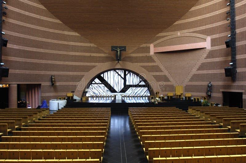 La Francia, cattedrale di Evry fotografia stock libera da diritti