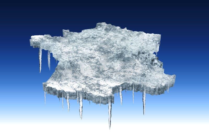 La Francia di congelamento illustrazione di stock