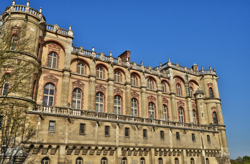 La Francia, il castello pittoresco dell'en Laye di St Germain; fotografia stock libera da diritti