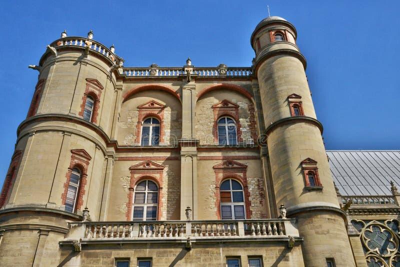 La Francia, il castello pittoresco dell'en Laye di St Germain; immagine stock