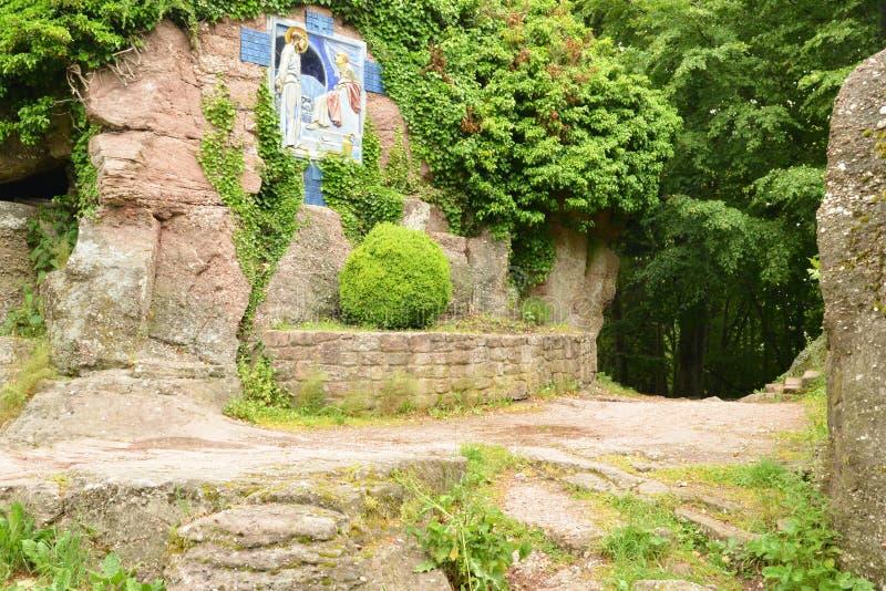 La Francia, Mont Sainte Odile pittoresco in Bas Rhin fotografia stock libera da diritti