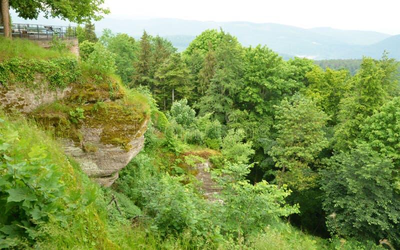 La Francia, Mont Sainte Odile pittoresco in Bas Rhin immagine stock libera da diritti