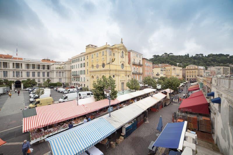 La Francia, Nizza, Nizza città immagini stock libere da diritti