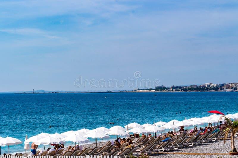 La Francia, Nizza: Riviera francese fotografie stock libere da diritti