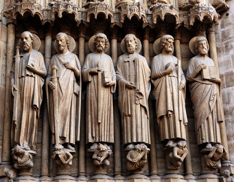 La Francia, Parigi: Cattedrale del Notre Dame fotografie stock libere da diritti