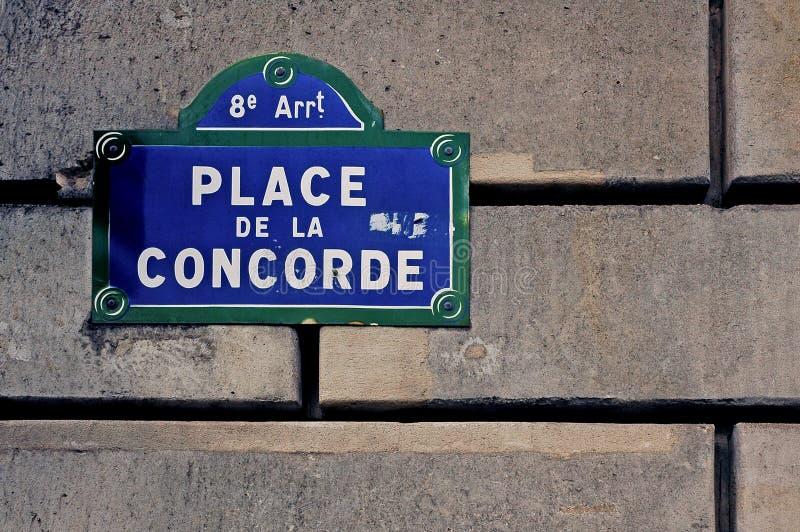 La Francia, Parigi: Place de la Concorde fotografie stock
