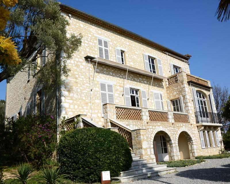 La Francia, Riviera francese, sur marzo, Musée Auguste Renoir di Cagnes immagine stock libera da diritti