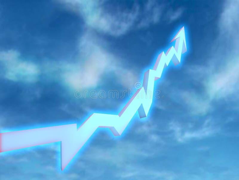 La freccia luminosa illustrazione di stock